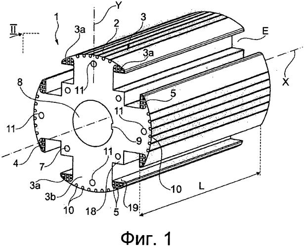 Ротор, содержащий полюсные башмаки с охлаждающими каналами