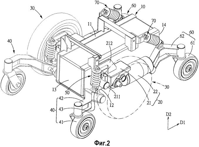 Подвеска для электрического кресла-коляски