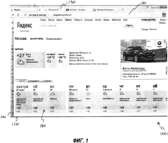 Способ для отображения перекрывающихся веб-страниц