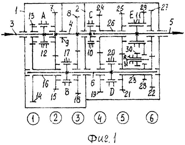 Многоступенчатая коробка передач типа 20r10