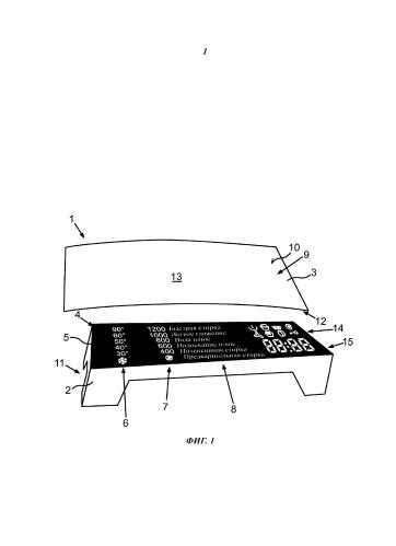 Бытовой прибор с сенсорным устройством управления и индикации