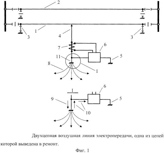 Способ компенсации напряжения прикосновения на месте производства работ на выведенной в ремонт воздушной линии электропередачи