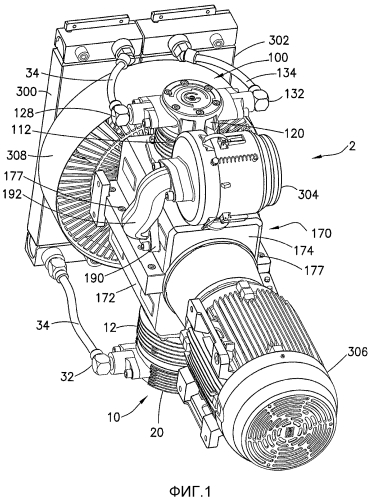 Безмасляный воздушный компрессор для рельсовых транспортных средств
