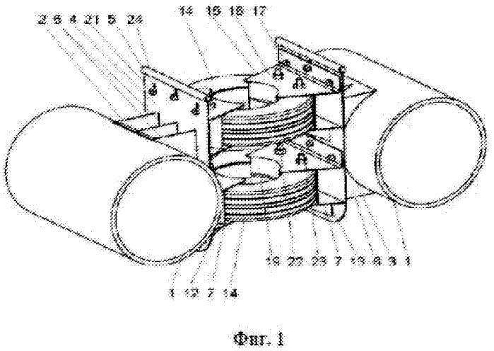 Амортизационное соединительное устройство для плавучих конструкций