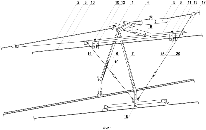 Воздушная стрелка контактной сети скоростного движения