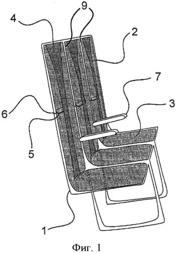 Кресло летательного аппарата, оборудованное усилительной лентой для амортизации ударов