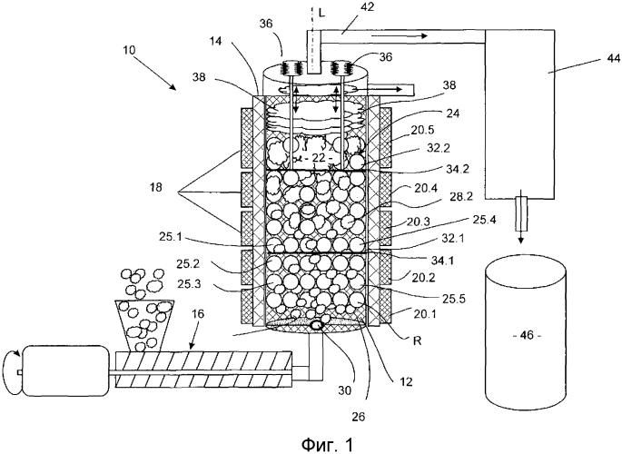 Реактор и способ для по меньшей мере частичного разложения, в частности деполимеризации, и/или очистки полимерного материала