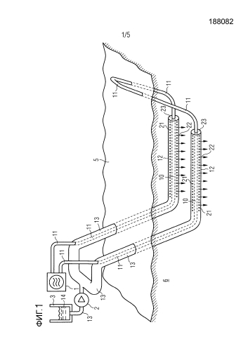 Устройство и способ для добычи, в частности добычи на месте залегания (in-situ), углеродсодержащего вещества из подземного месторождения