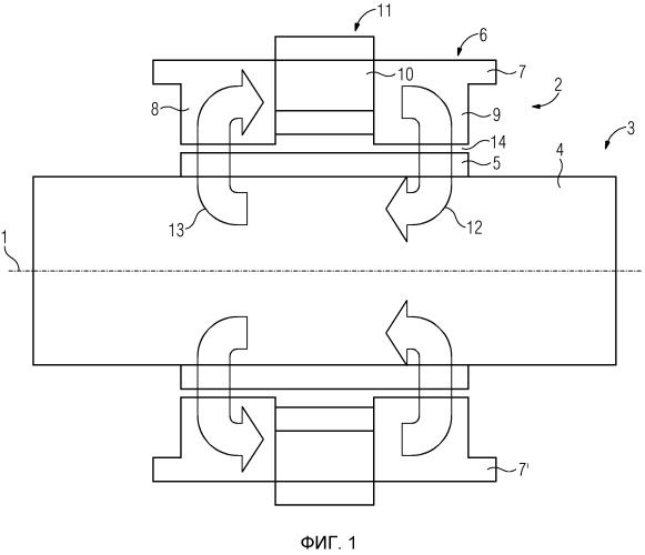 Радиальный магнитный подшипник с отдельными листами в тангенциальном направлении