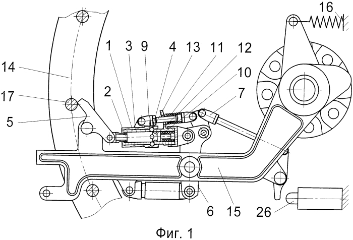 Опорно-сцепной узел механического привода корабельной артиллерийской установки