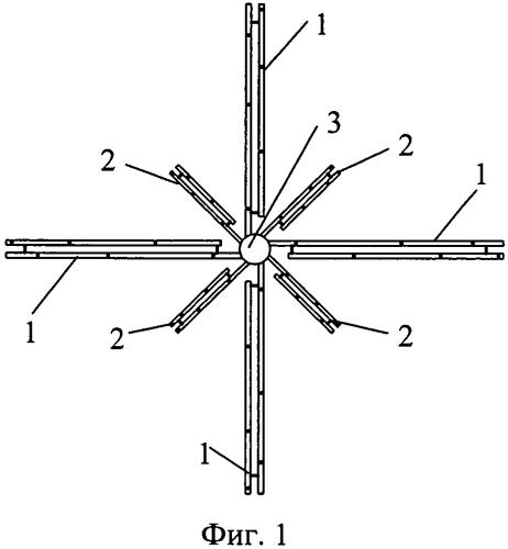 Способ передачи сигналов через всенаправленную кольцевую логопериодическую антенную решетку вертикальной поляризации и антенная решетка для его осуществления
