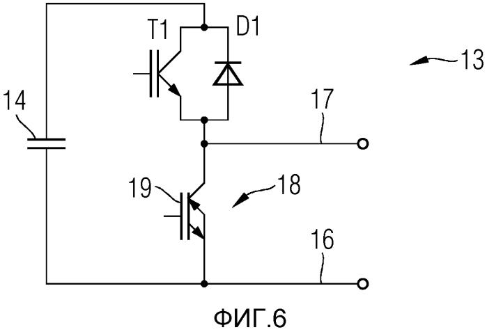 Модульный многократный преобразователь, снабженный проводящими в обратном направлении силовыми полупроводниковыми реле