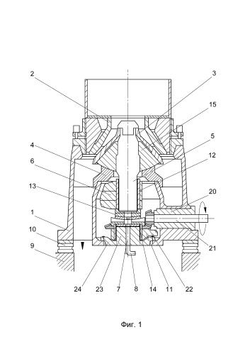 Конусная инерционная дробилка с модернизированным приводом
