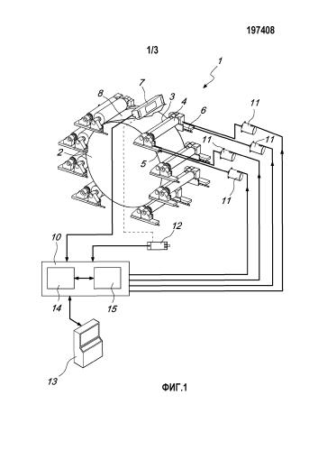 Система и способ регулирования и оперативного контроля давлений печатных валиков во флексографской печатной машине с центральным барабаном