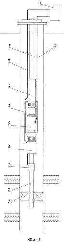 Установка для одновременно-раздельной добычи из двух пластов скважины