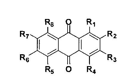 Композиции, содержащие производные антрахинона, в качестве стимуляторов роста и противогрибковых агентов