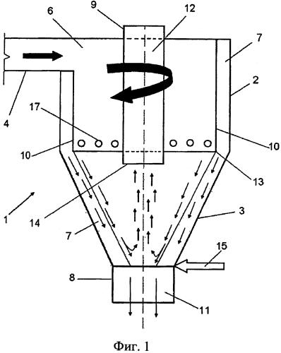 Гидроциклон с уменьшением содержания мелкозернистого материала в нижнем сливе циклона