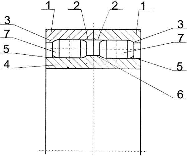 Двухрядный роликовый подшипник качения