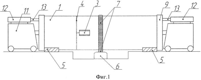 Свч-сушильная камера для сушки крупномерных лесоматериалов