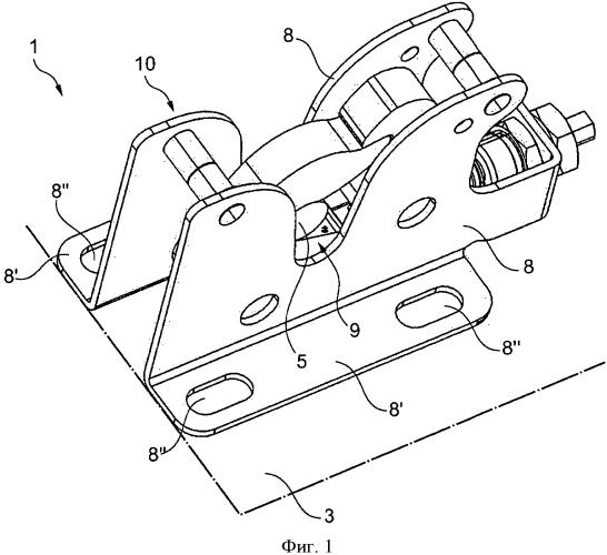 Устройство крепления кабины промышленной машины к шасси самой машины