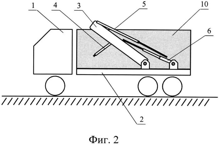 Грузовое транспортное средство с функциями самопогрузки и саморазгрузки съемного кузова