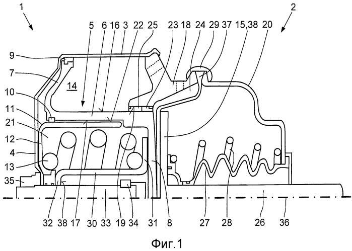 Тормозной цилиндр с пружинным аккумулятором, например, для тормозов автомобиля