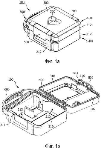 Футляр для переноски дефибриллятора со встроенным тестером кнопки