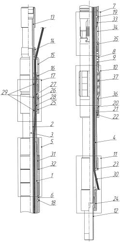 Пакер механический осевой с кабельным вводом