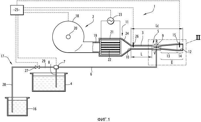 Устройство и соответствующий способ для теплового туманообразования с использованием жидкости