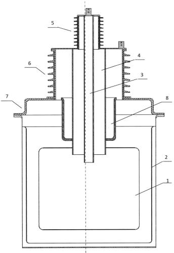 Токоввод высоковольтного сверхпроводящего ограничителя тока короткого замыкания