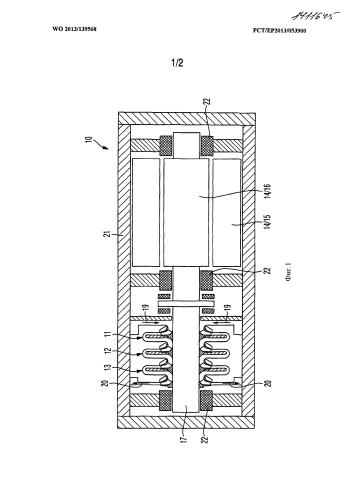 Многоступенчатый блок радиального нагнетателя с отбором газа в ступени нагнетателя