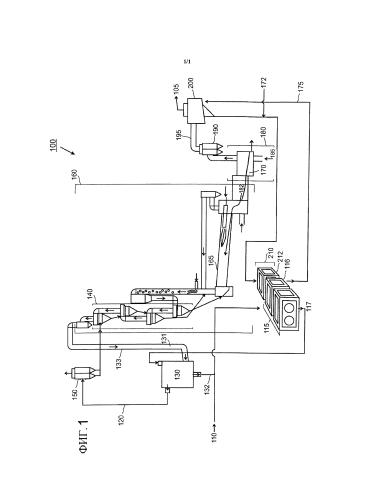 Установка для производства цемента, включающая центральное измельчающее устройство