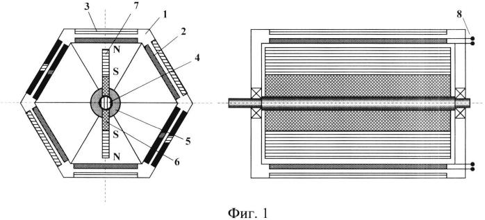 Синхронный магнитоэлектрический генератор