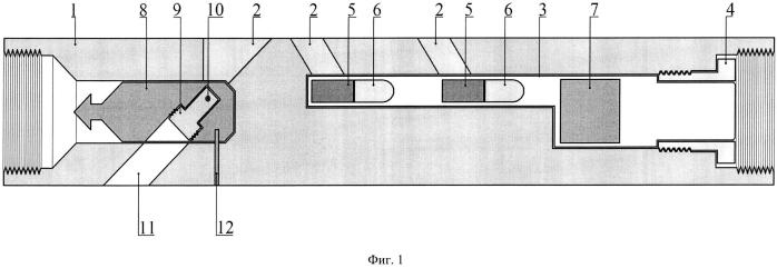 Устройство для гамма-гамма каротажа, доставляемое в интервал исследования на буровом инструменте