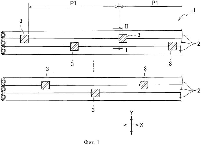 Оптоволоконная лента и оптоволоконный кабель, в котором установлена оптоволоконная лента