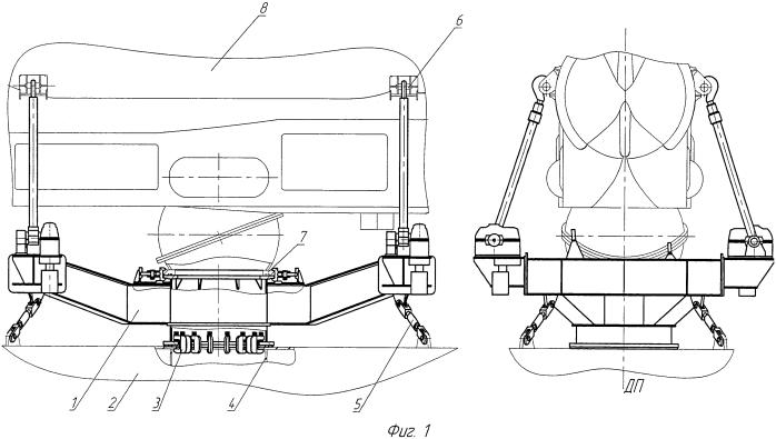 Съемно-закрепляющее устройство для транспортирования, подводного выпуска и приема спасательного подводного аппарата подводной лодкой