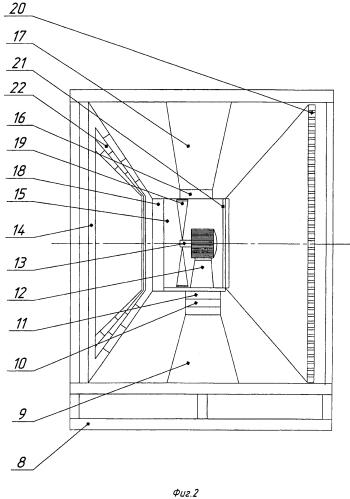 Блочная ярусная с концентраторами, электронагревателями и глушителями ветровая электростанция