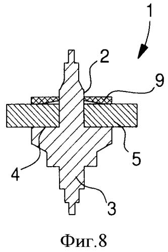 Узел, в котором используется конический упругий стопорный элемент