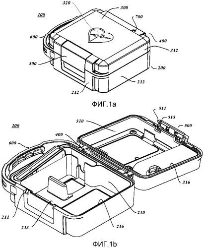 Переносная сумка для дефибриллятора и аксессуаров с улучшенным доступом
