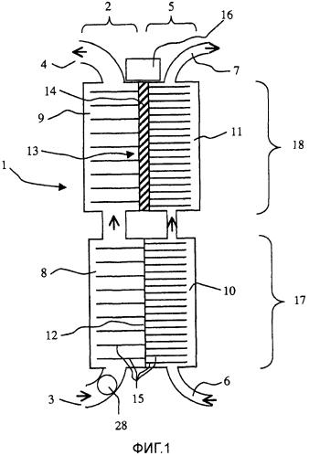 Устройство для кондиционирования воздуха в помещениях, содержащее жидкостно-воздушный теплообменник, снабженный элементами пельтье