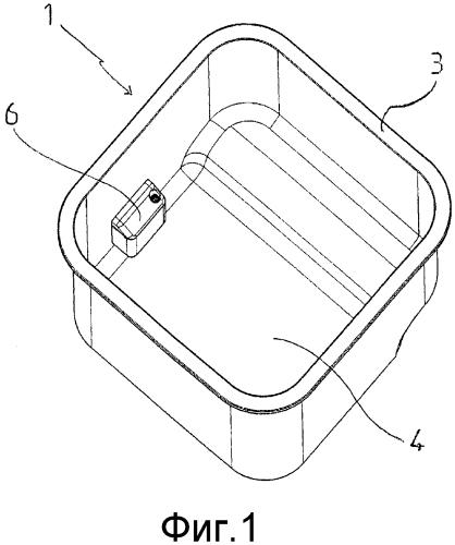 Контейнер для бытовых отходов и способ дезинфекции или очистки такого контейнера
