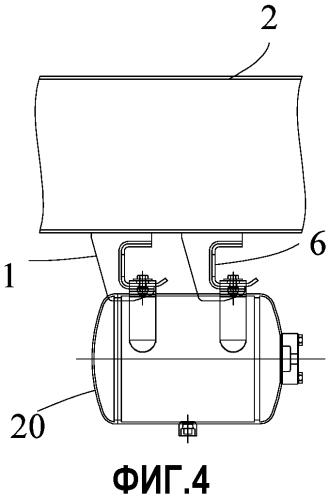 Подвесное место установки, препятствующее падению пневмоцилиндра, для железнодорожного грузового состава и железнодорожный грузовой состав