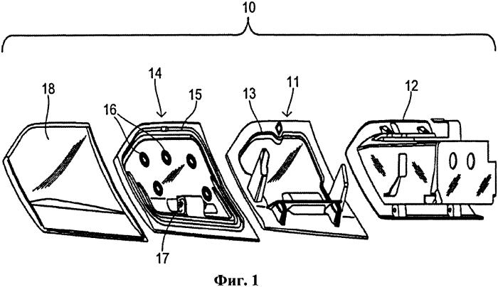Активный буфер с двухшарнирными ограничительными пластинами