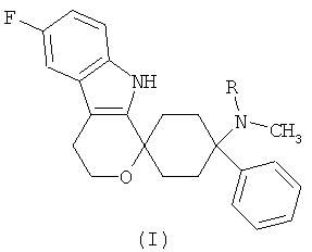 Лекарственная дозированная форма, которая содержит 6-фтор-(n-метил- или n, n-диметил-)-4-фенил-4, 9-дигидро-3н-спиро[циклогексан-1, 1-пирано[3, 4, b]индол]-4-амин
