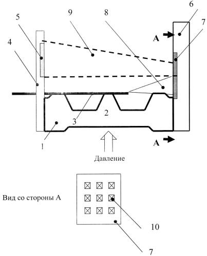 Амплитудный волоконно-оптический сенсор давления