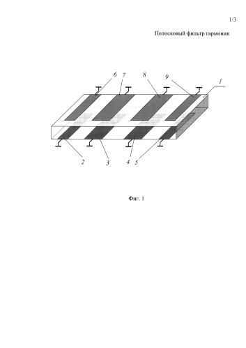 Полосковый фильтр гармоник