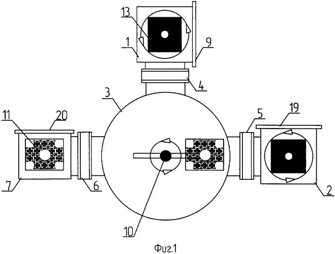 Установка для напыления в вакууме топологического тонкоплёночного рисунка гибридной микросхемы на подложку