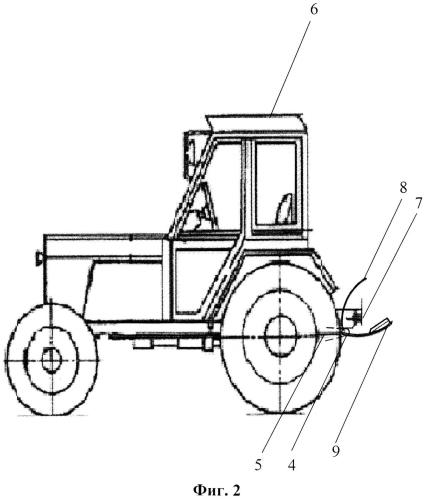 Уголковый гидродогружатель колесных тракторов при их агрегатировании с прицепами