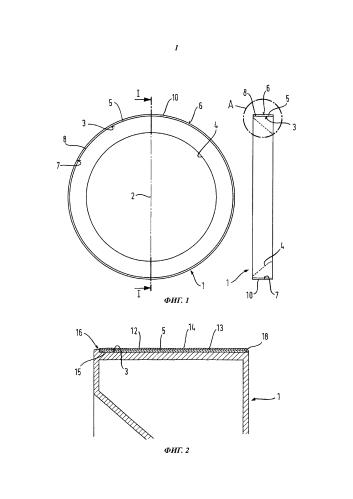 Кольцеобразный компонент загрузочной дверцы бытовых машин для обработки белья