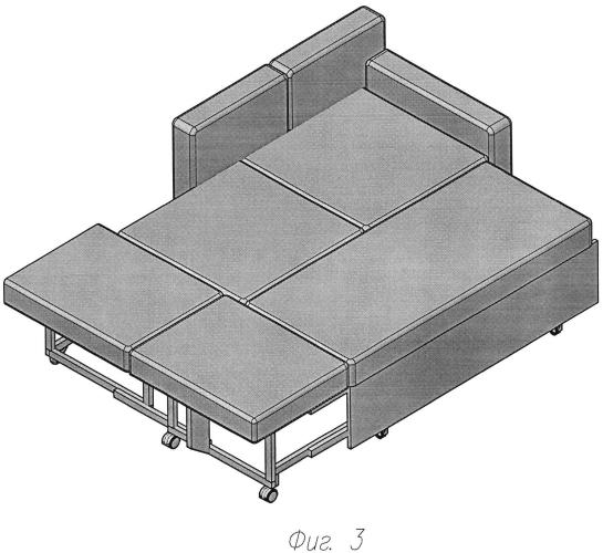Механизм трансформации дивана-кровати